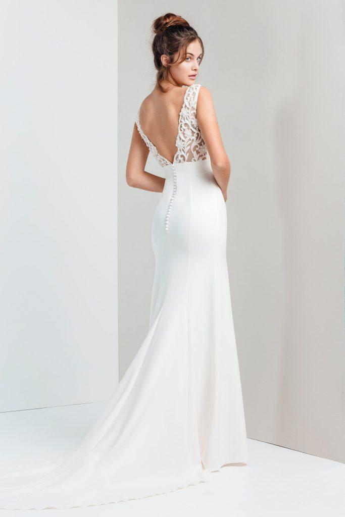 Vestidos de novia - ELISA - Silvia Fernandez 2020 - DETRAS
