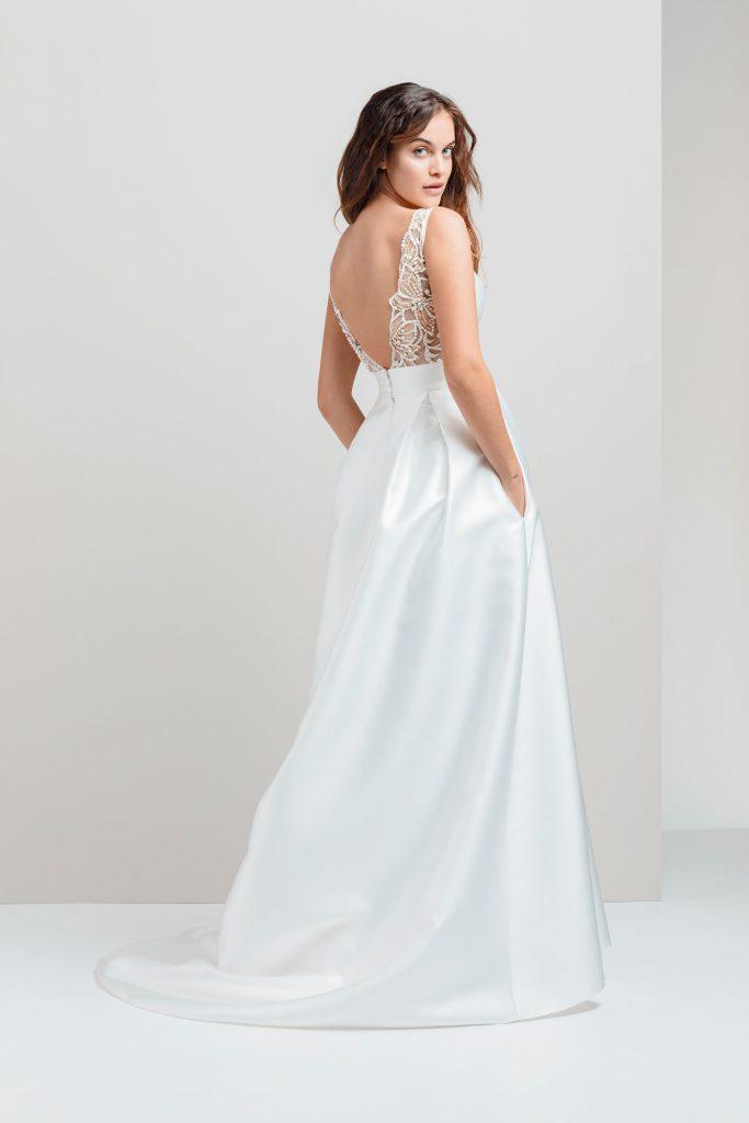 Vestidos de novia - ELISEO - Silvia Fernandez 2020 - detrás