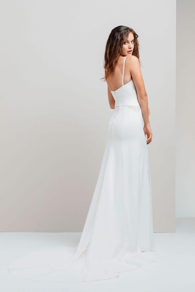 Vestidos de novia - EXETER - detras - Silvia Fernandez - 2020