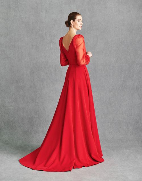 Vestidos de Fiesta 2020 - Silvia Fernandez Atelier - IRATI - detrás