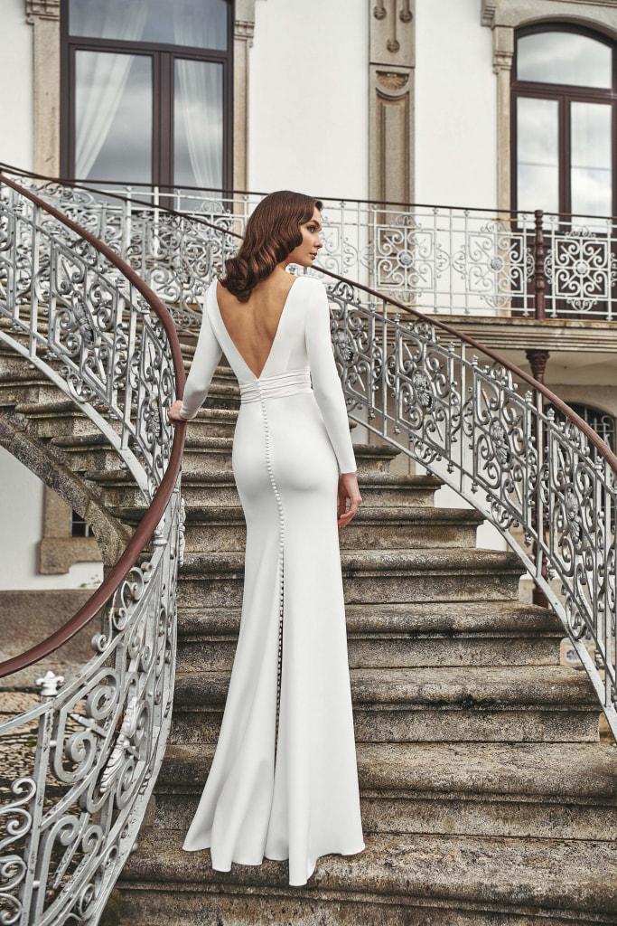 Vestido de novia 2021 - Lazo - detras sin capa