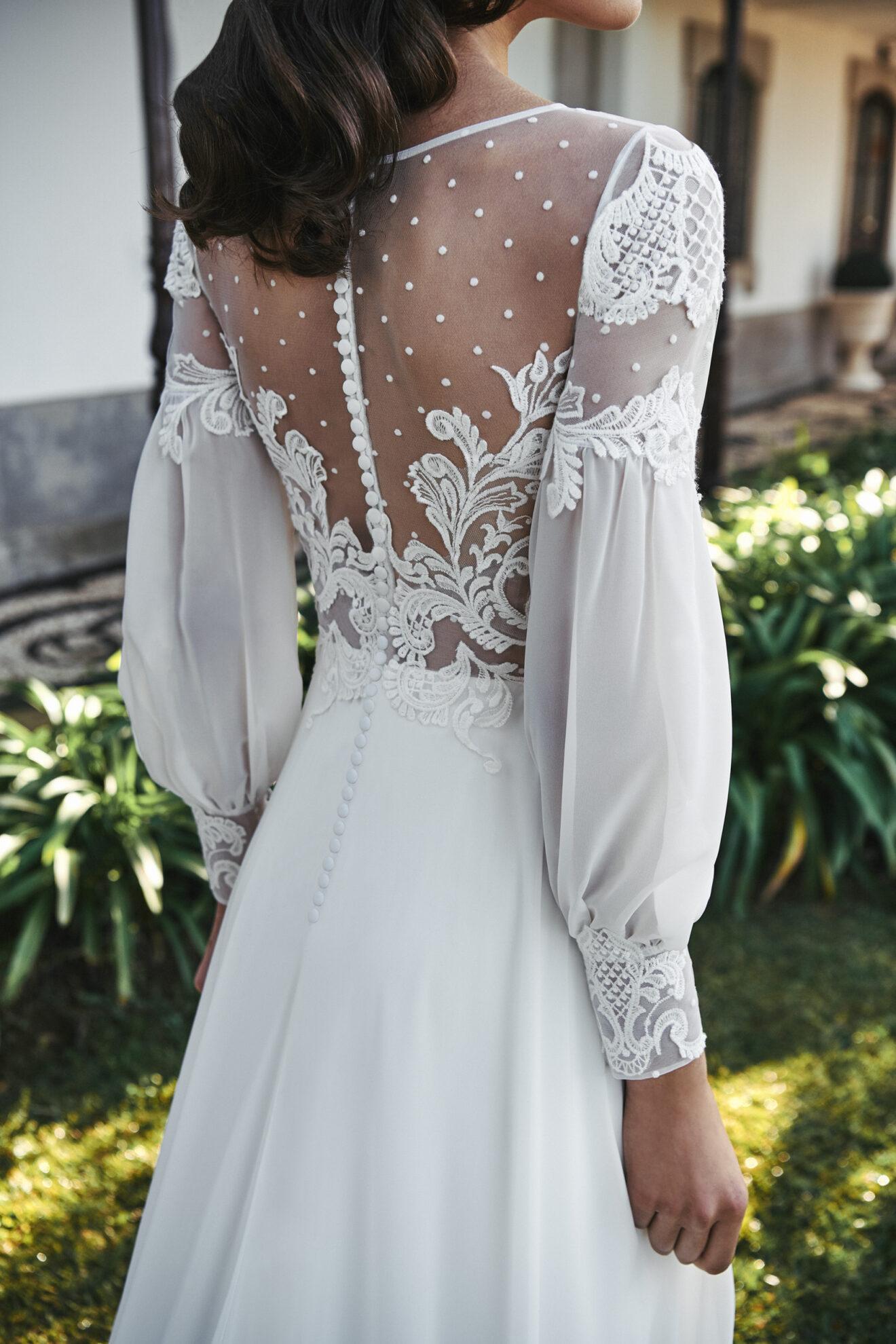 Vestido de novia 2021 - Luanda - detalle detras